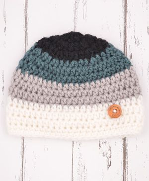 Love Crochet Art Crochet Beanie - Multicolor