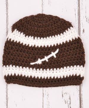 Love Crochet Art Crochet Cap - Brown