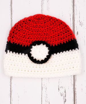 Love Crochet Art Dual Shaded Crochet Cap - White & Red