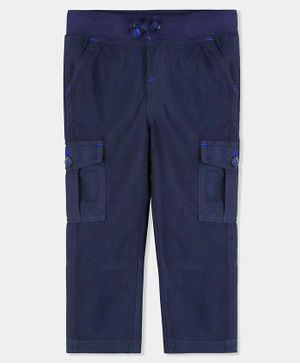 Cherry Crumble California Solid Full Length Pants - Navy Blue