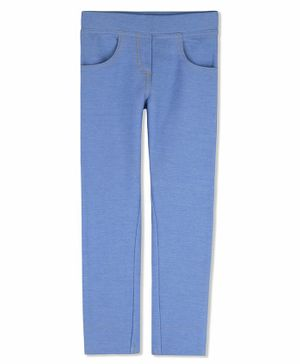 Cherry Crumble California Solid Full Length Jeggings - Light Blue