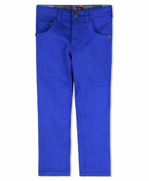 Cherry Crumble California Solid Front Pocket Full Length Chino Pants - Blue