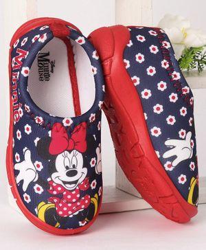 Disney Casual Shoes Minnie Mouse Print - Navy