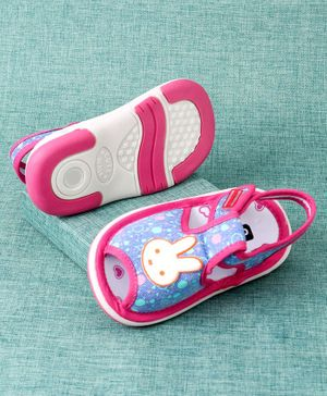 Cute Walk by Babyhug Sandals Bunny Patch - Blue Pink