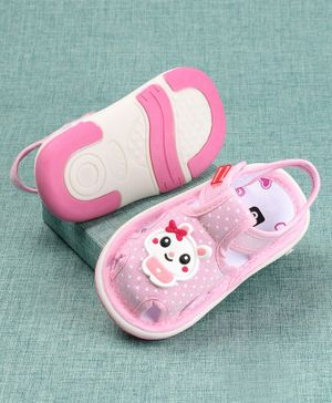 Cute Walk by Babyhug Sandals Doll Patch - Light Pink