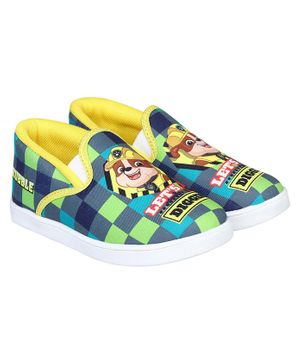 PAW PATROL BY DAXTEN Paw Petrol Print Shoes - Green & Yellow