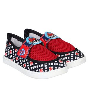 PAW PATROL BY DAXTEN Paw Patrol Printed Velcro Straps Shoes - Black & Red