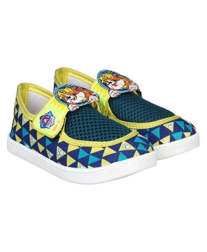 PAW PATROL BY DAXTEN Paw Patrol Printed Velcro Shoes - Green & Yellow