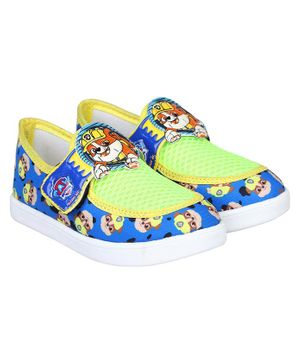 PAW PATROL BY DAXTEN Paw Patrol Printed Velcro Straps Shoes - Blue & Yellow