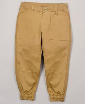The Sandbox Clothing Co Solid Full Length Pants - Beige