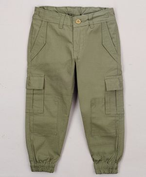 The Sandbox Clothing Co Solid Full Length Pants - Green