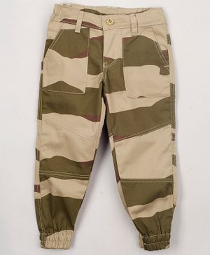 The Sandbox Clothing Co Camouflage Print Full Length Pants - Brown