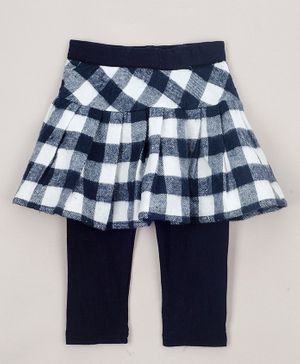 The Sandbox Clothing Co Checkered Full Length Skeggings - Black