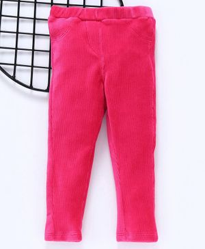 LC Waikiki Solid Full Length Elasticated Pants - Pink