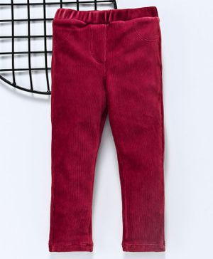 LC Waikiki Solid Full Length Pants - Red