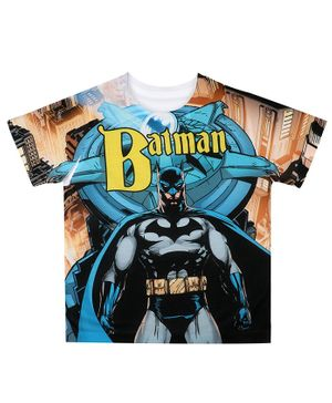 Batman By Crossroads Cape Print Half Sleeves T-Shirt - Multicolor