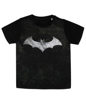 Batman By Crossroads Printed Half Sleeves T-Shirt - Black
