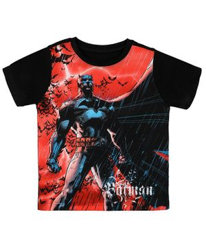 Batman By Crossroads Printed Half Sleeves T-Shirt - Red