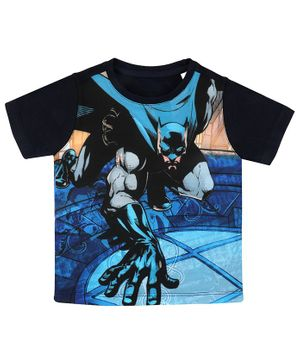 Batman By Crossroads Printed Half Sleeves T-Shirt - Blue