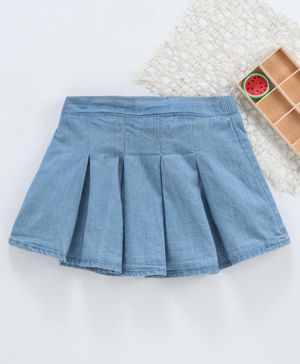 Fox Baby Denim Skirt - Blue