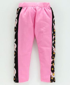 Birthday Girl Ankle Length Leggings Floral Print - Pink