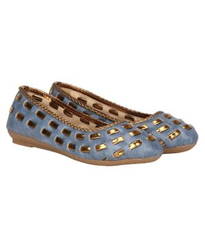 Buckled Up Designer Lace Bellies - Blue
