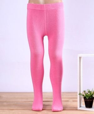 Mustang Solid Color Footed Tights - Dark Pink
