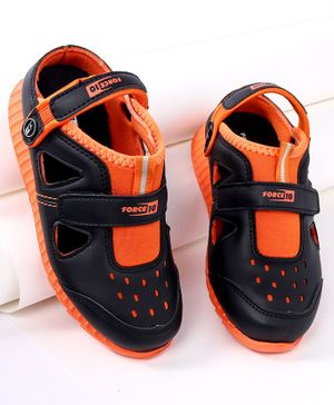 Force 10 Casual Shoes - Black Orange