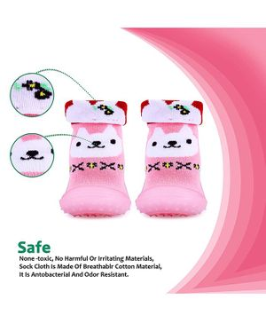 u-grow Baby Anti-Skid Breathable Soft Socks Shoes - Pink - Euro SIZE-22