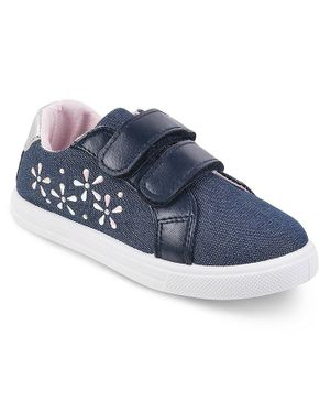 Kittens Shoes Beads Embellished Shoes - Dark Blue