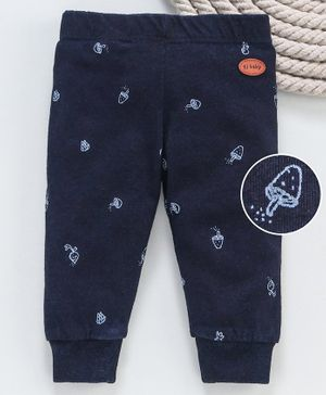 GJ Baby Full Length Lounge Pant Fruit Print - Navy Blue
