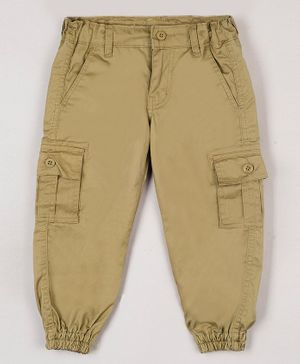 The Sandbox Clothing Co Solid Full Length Pants - Brown