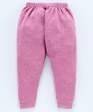 Bodycare Full Sleeves Solid Thermal Lounge Pant - Pink