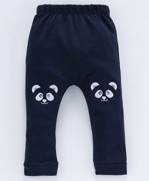 Mom's Love Diaper Leggings Animal Patch - Navy Blue