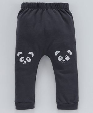 Mom's Love Diaper Leggings Animal Patch - Charcoal Grey