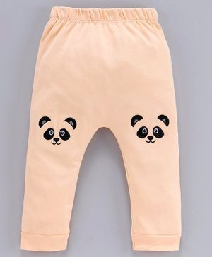 Mom's Love Diaper Leggings Animal Patch - Beige
