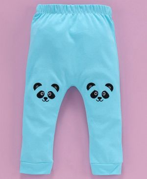 Mom's Love Diaper Leggings Animal Patch - Blue