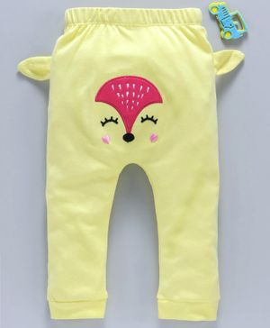 Mom's Love Diaper Leggings Animal Design - Yellow