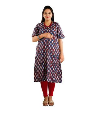 DFF Smart Protect Anti Radiation Kurta - Navy Blue