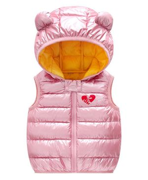 Awabox Ear Applique Full Sleeves Hooded Jacket - Light Pink