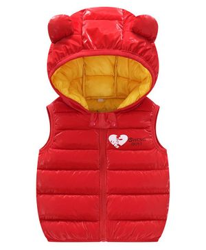 Awabox Ear Applique Full Sleeves Hooded Jacket - Red