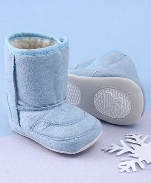 KIDLINGSS Ankle Length Solid Booties - Light Blue