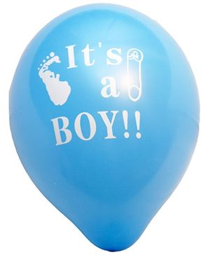 Party Anthem It Is A Boy Sky Blue Latex Balloons - Pack of 25