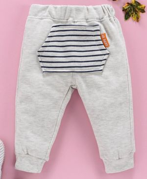 Marshmallow Full Length Striped Lounge Pant - Grey