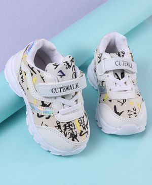 Cute Walk by Babyhug Sports Shoes - White