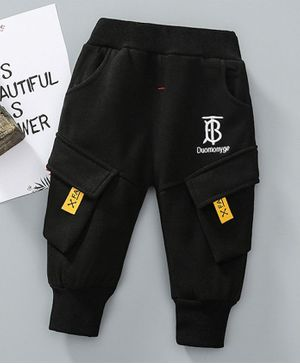 Pre Order - Awabox Embroidered Full Length Pants - Black