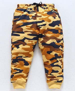 Doreme Full Length Fleece Bottom Camouflage Print - Yellow