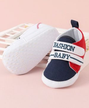 Cute Walk by Babyhug Shoes Style Booties - Blue