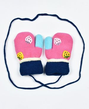 Kidofash Strawberry Patch Gloves - Pink