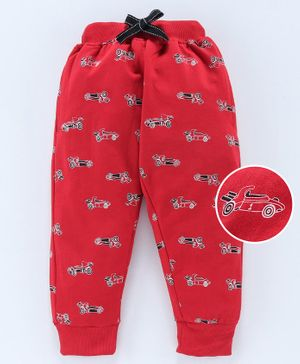 Fido Full Length Lounge Pant Racer Car Print - Red